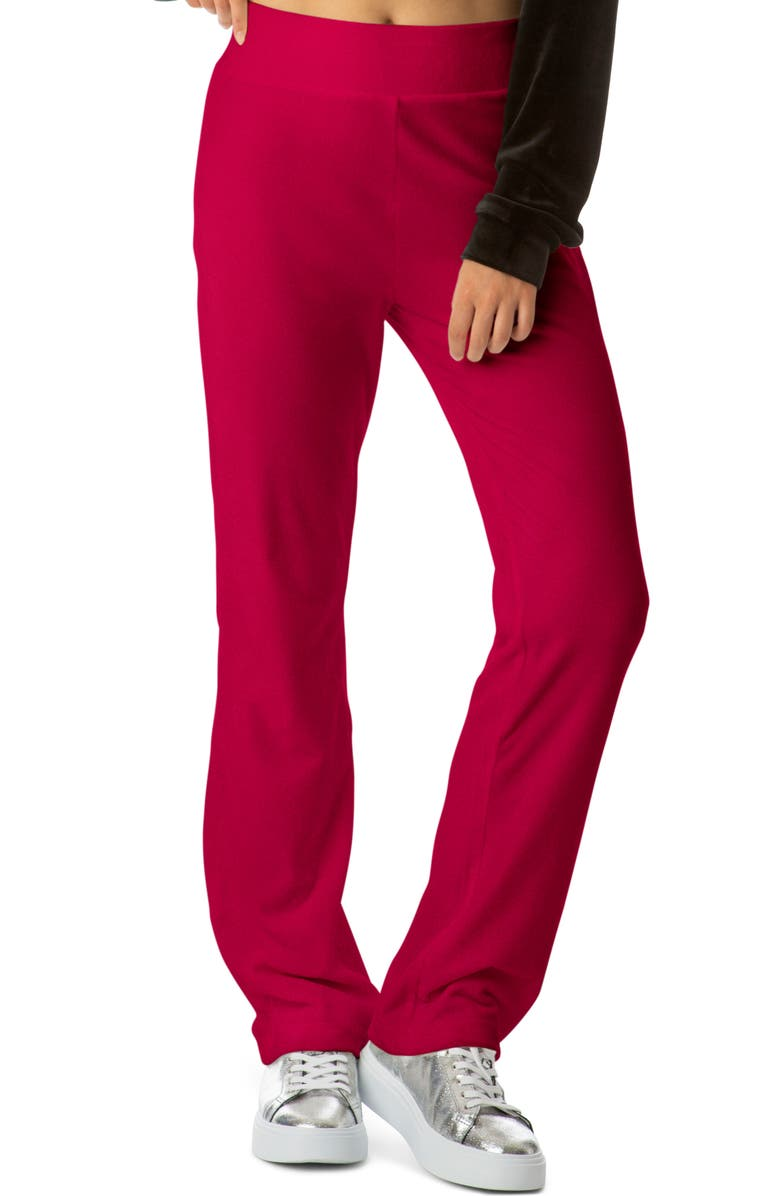 JUICY COUTURE Velour Track Pants, Main, color, PINK PARTY