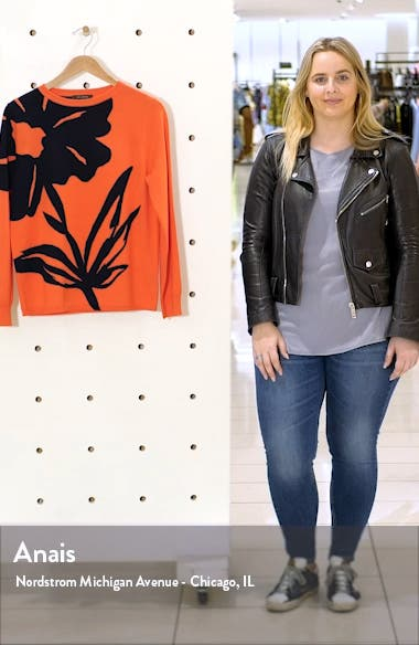 Oversize Floral Intarsia Wool Sweater, sales video thumbnail