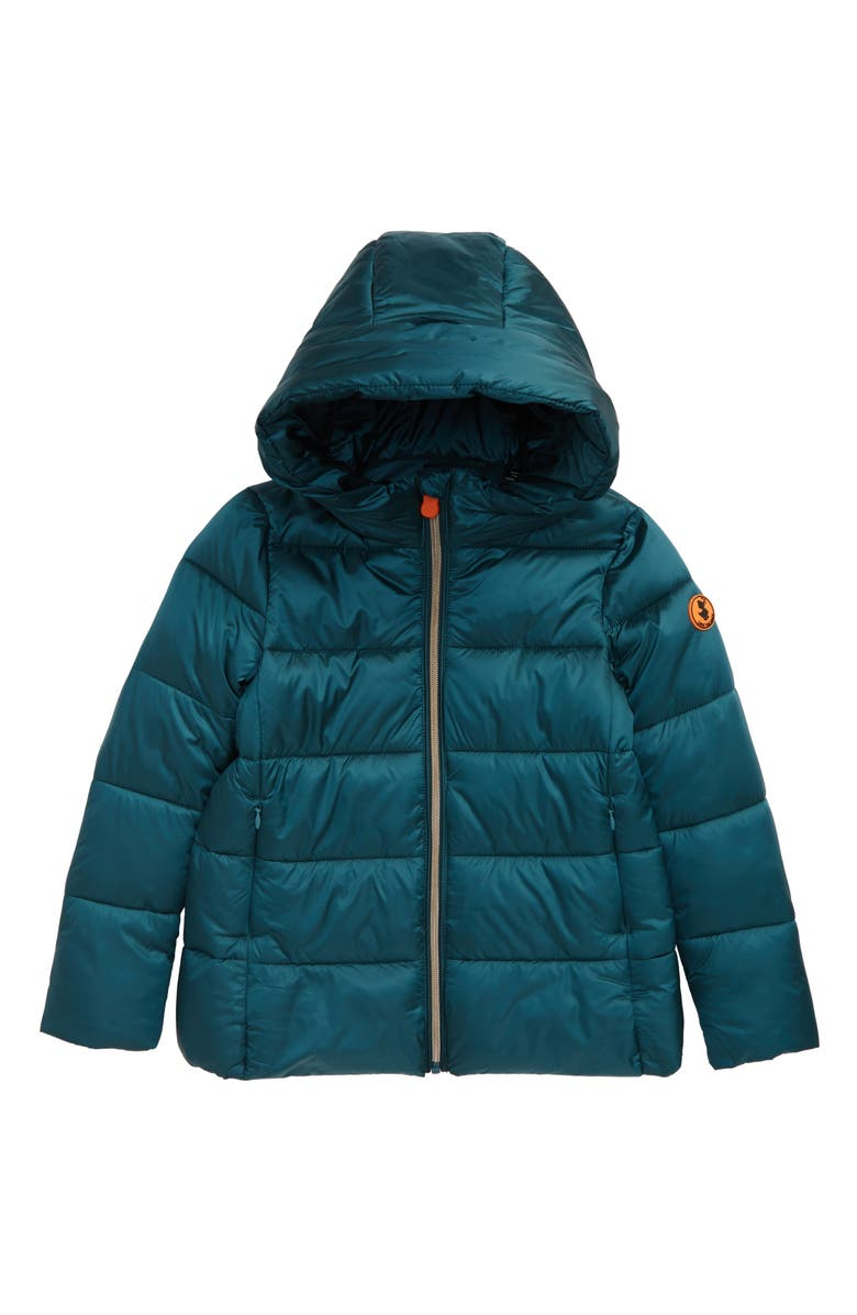 SAVE THE DUCK Quilted Hooded Puffer Jacket, Main, color, 300