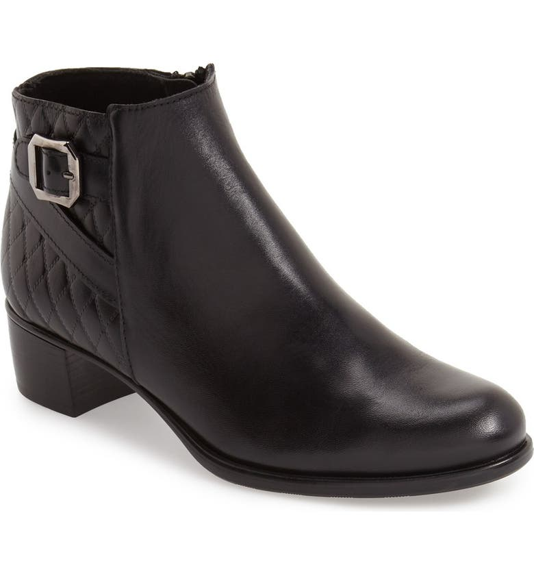 MUNRO 'Jolynn' Bootie, Main, color, BLACK QUILTED LEATHER