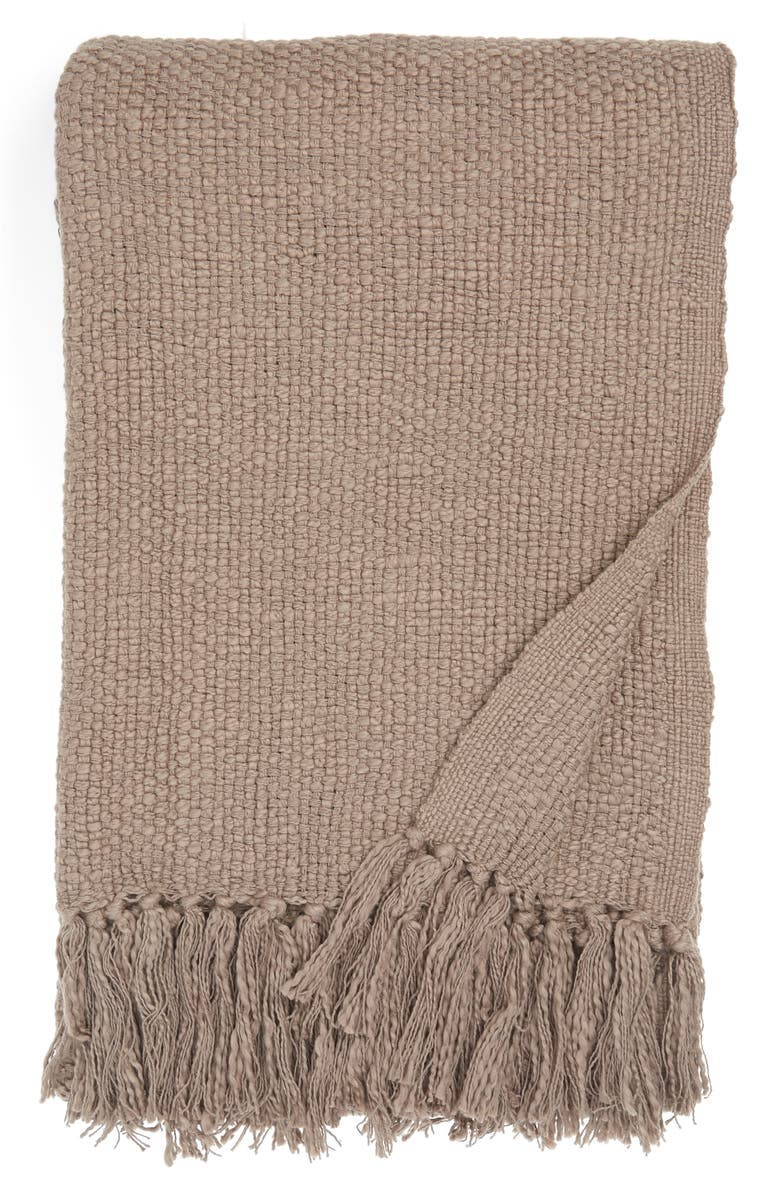 NORDSTROM Woven Cotton Throw Blanket, Main, color, 021