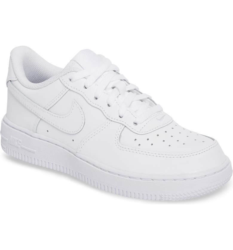 NIKE Air Force 1 Sneaker, Main, color, 117 WHITE/WHITE