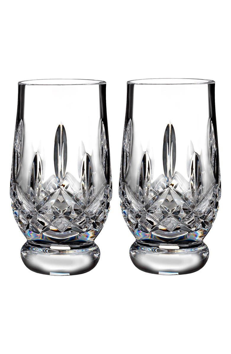 WATERFORD Lismore Connoisseur Set of 2 Lead Crystal Footed Tasting Tumblers, Main, color, 100