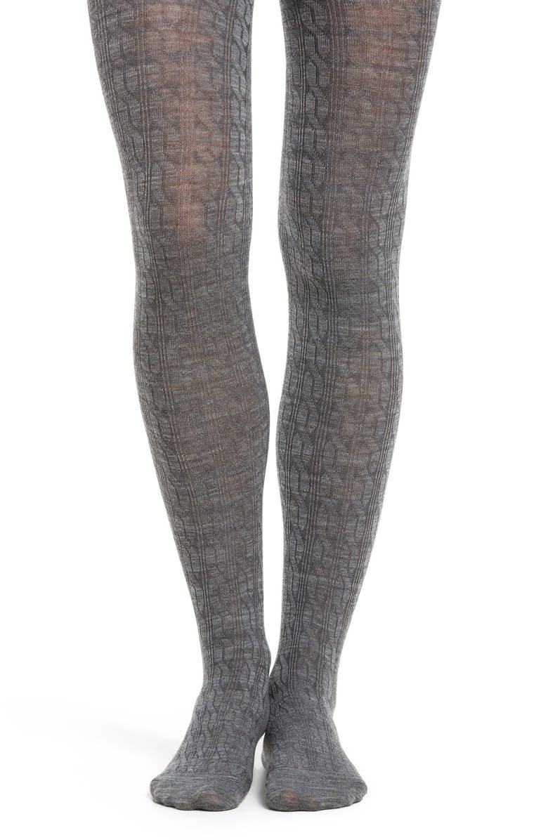 SMARTWOOL Cable Knit Tights, Main, color, 030