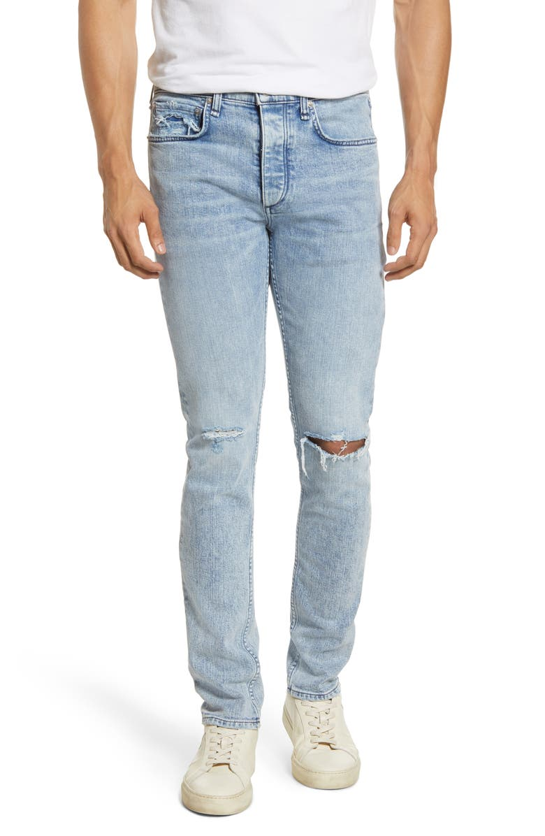 RAG & BONE Fit 1 Skinny Fit Ripped Jeans, Main, color, 420