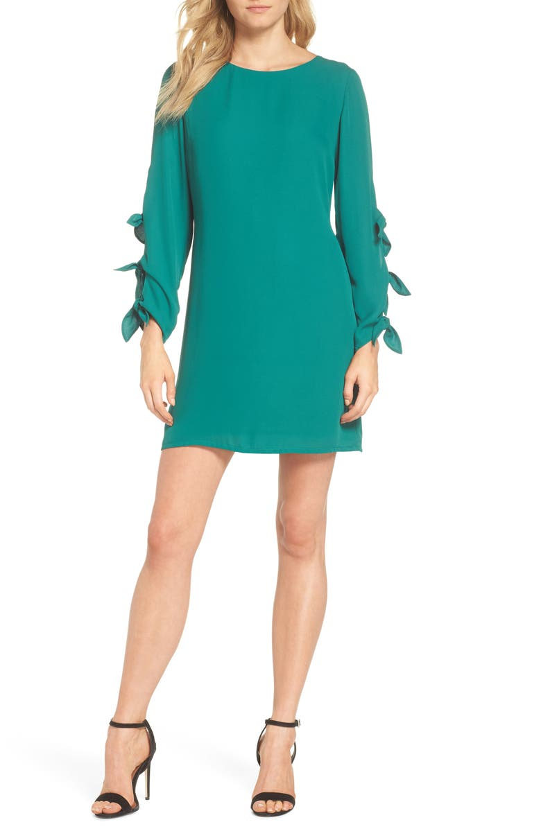 FOREST LILY Bow Sleeve Sheath Dress, Main, color, 300
