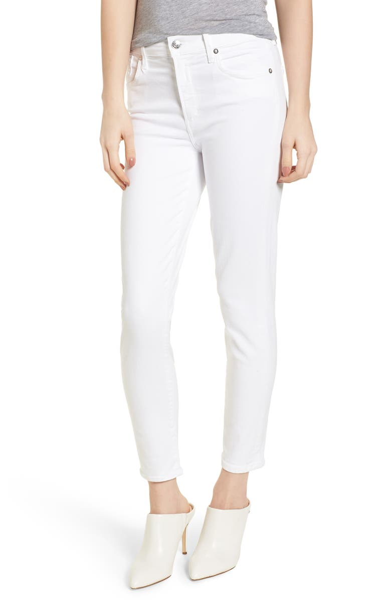 AGOLDE Sophie High Waist Ankle Skinny Jeans, Main, color, 118
