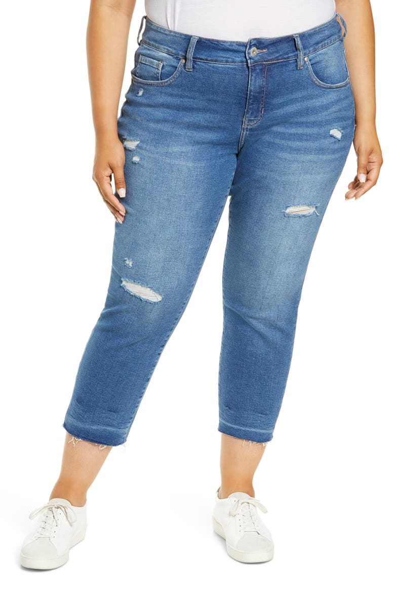 JAG JEANS Carter Ripped Crop Girlfriend Jeans, Main, color, ASBURY PARK
