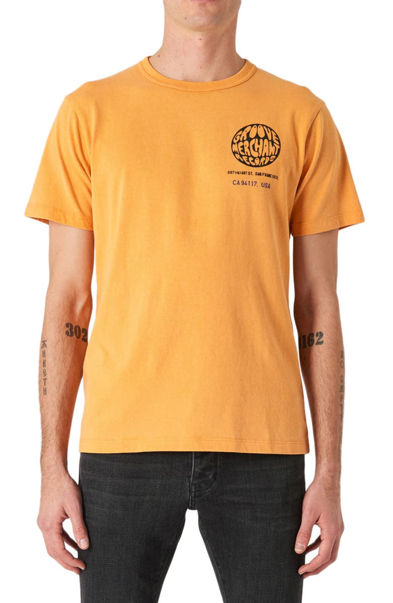 NEUW DENIM Groove Graphic Tee, Main, color, VINTAGE ORANGE