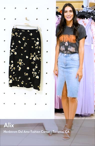 Printed Midi Skirt, sales video thumbnail