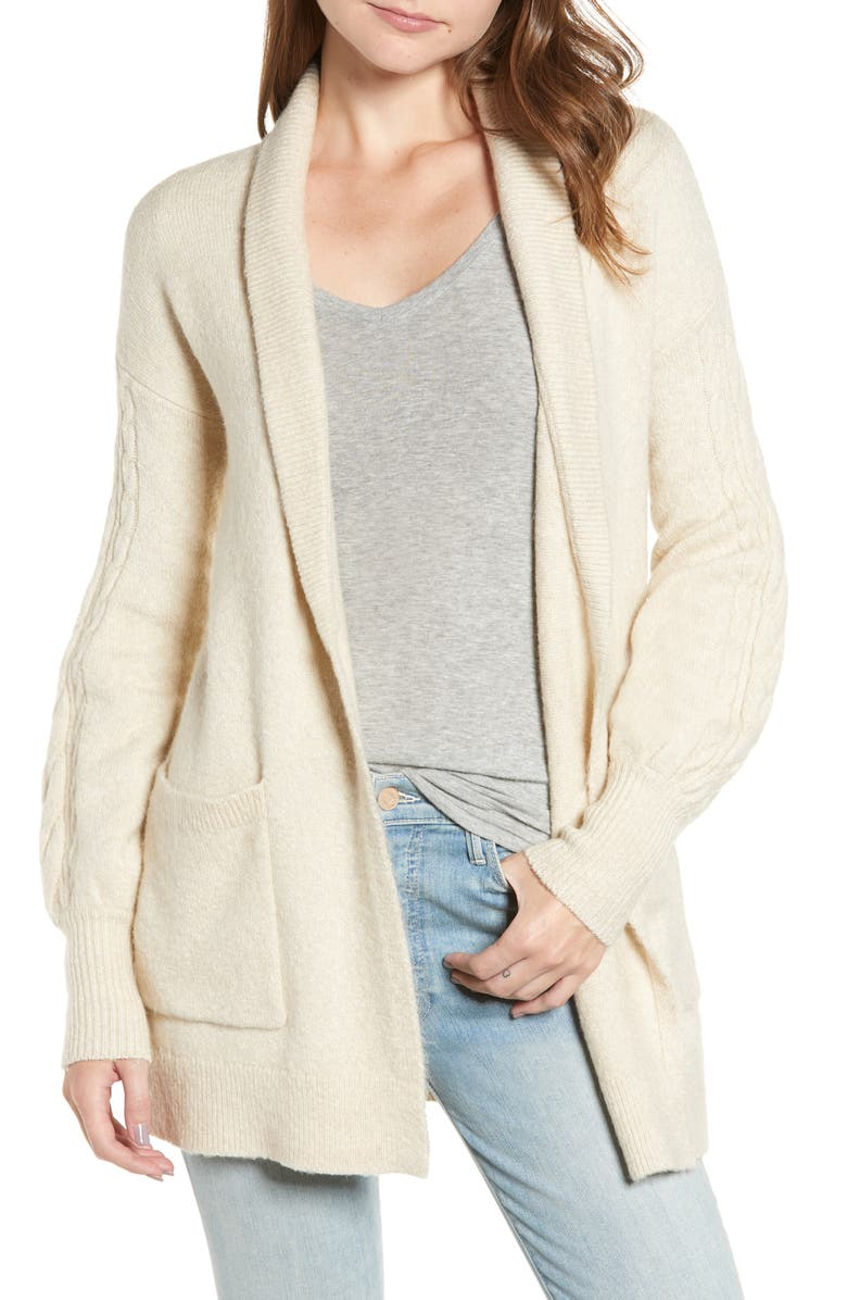 HINGE Longline Cardigan, Main, color, 260