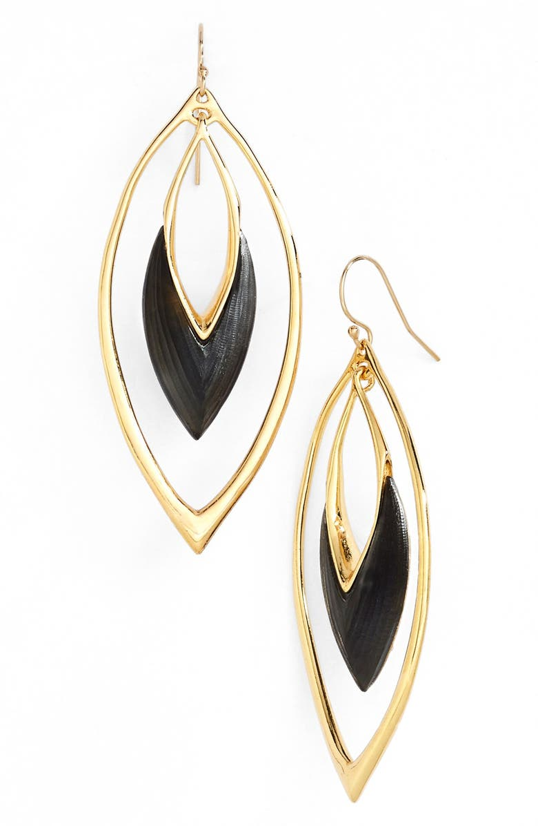 ALEXIS BITTAR 'Lucite<sup>®</sup>' Oscillating Marquise Drop Earrings, Main, color, 001