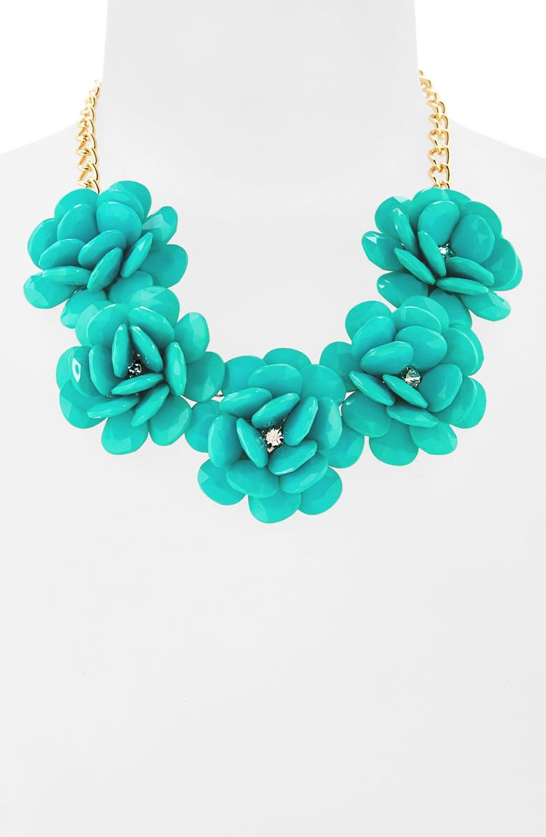 STEPHAN & CO. Flower Statement Necklace, Main, color, 400