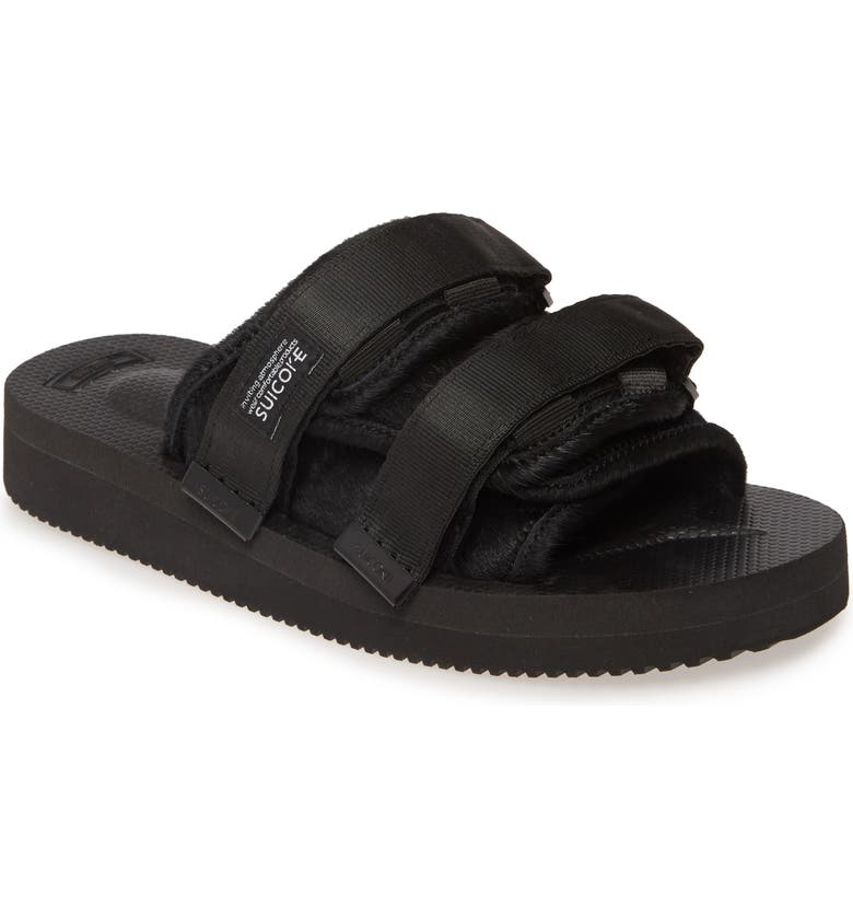 SUICOKE Moto VHL Genuine Calf Hair Slide Sandal, Main, color, 001
