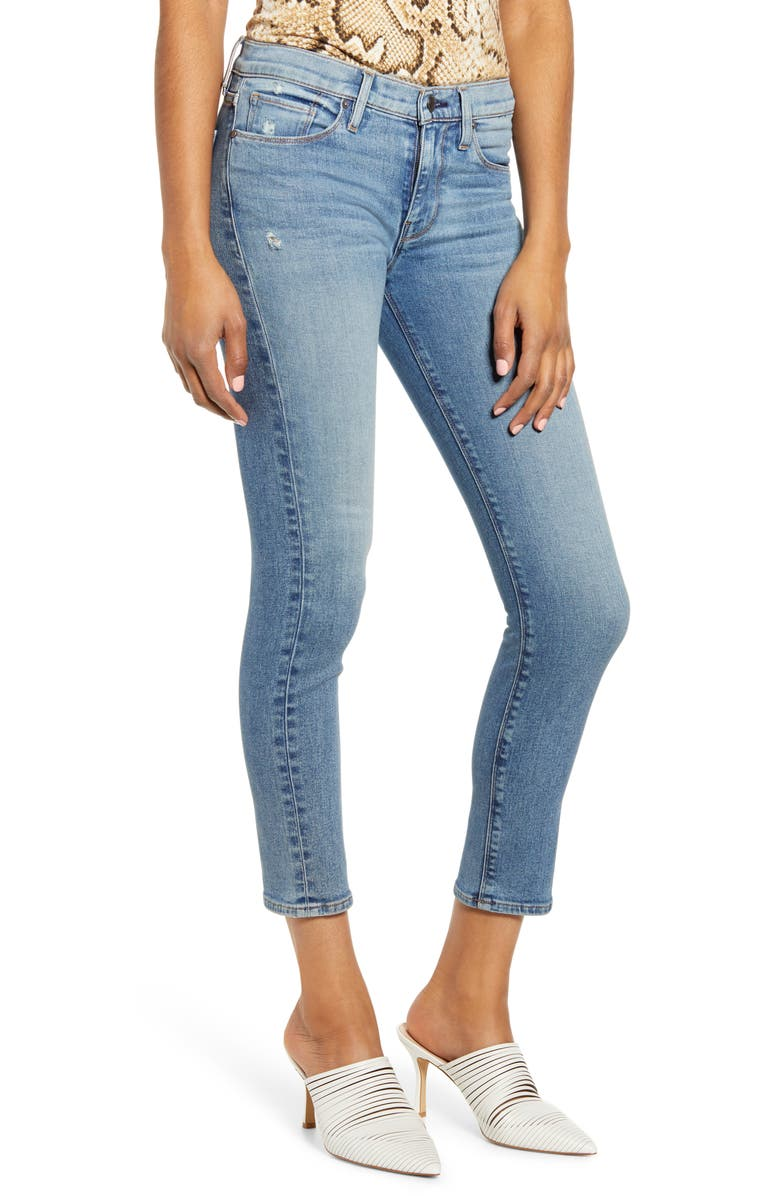 HUDSON JEANS Tally Ripped Crop Skinny Jeans, Main, color, 421