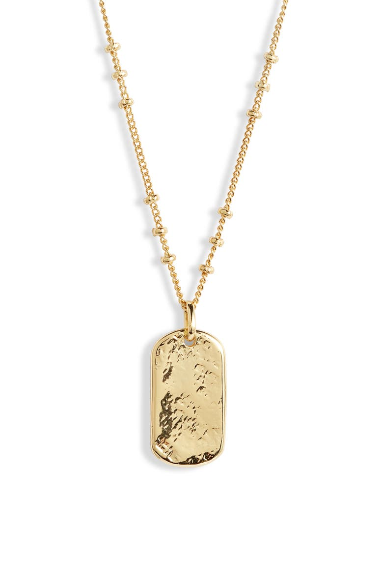 GORJANA Griffin Dog Tag Necklace, Main, color, 710