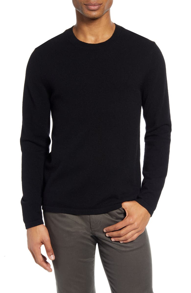 VINCE Cashmere Crewneck Sweater, Main, color, BLACK