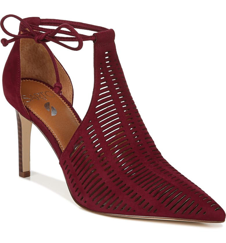 SARTO BY FRANCO SARTO Krista Perforated Ankle Wrap Pump, Main, color, 930