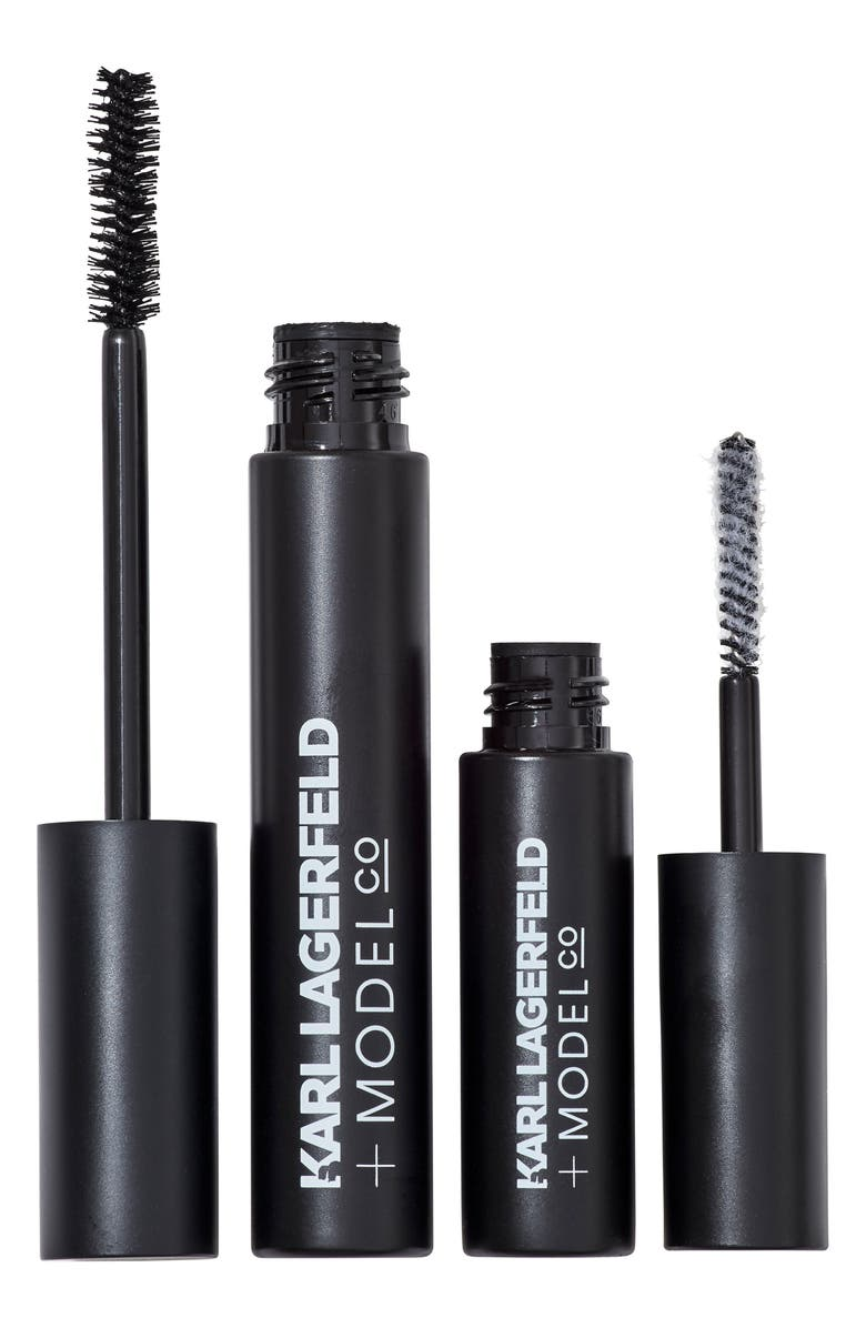 MODELCO KARL LAGERFELD + MODELCO Kiss Me Karl Fibre Lash Brush-On False Lashes Set, Main, color, 001