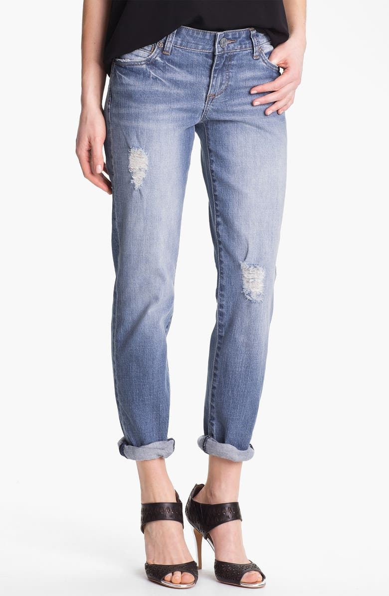 KUT FROM THE KLOTH 'Catherine' Distressed Slim Boyfriend Jeans, Main, color, 400
