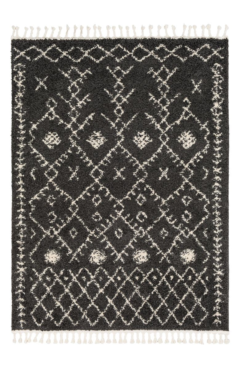 SURYA HOME Berber Shag Global Area Rug, Main, color, 001