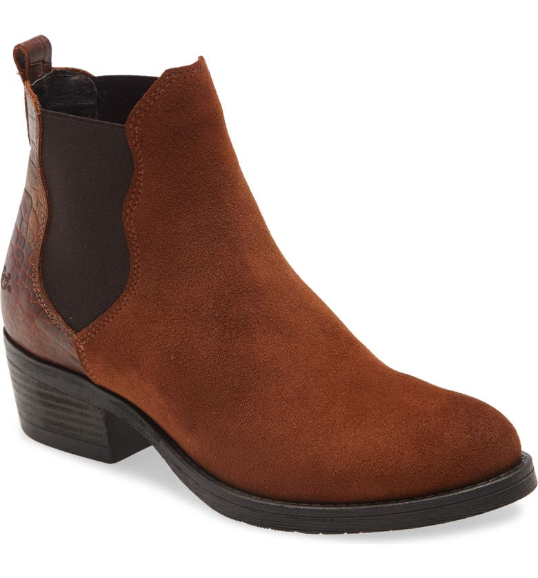 BOS. & CO. Emery Suede Waterproof Chelsea Boot, Main, color, WHISKEY SUEDE