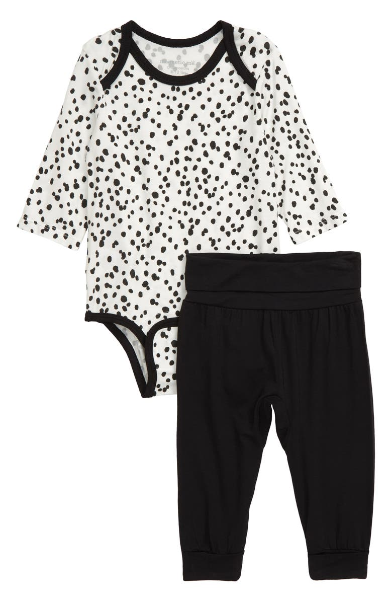 MAGNETIC ME Seeing Spots Bodysuit & Pants Set, Main, color, 001