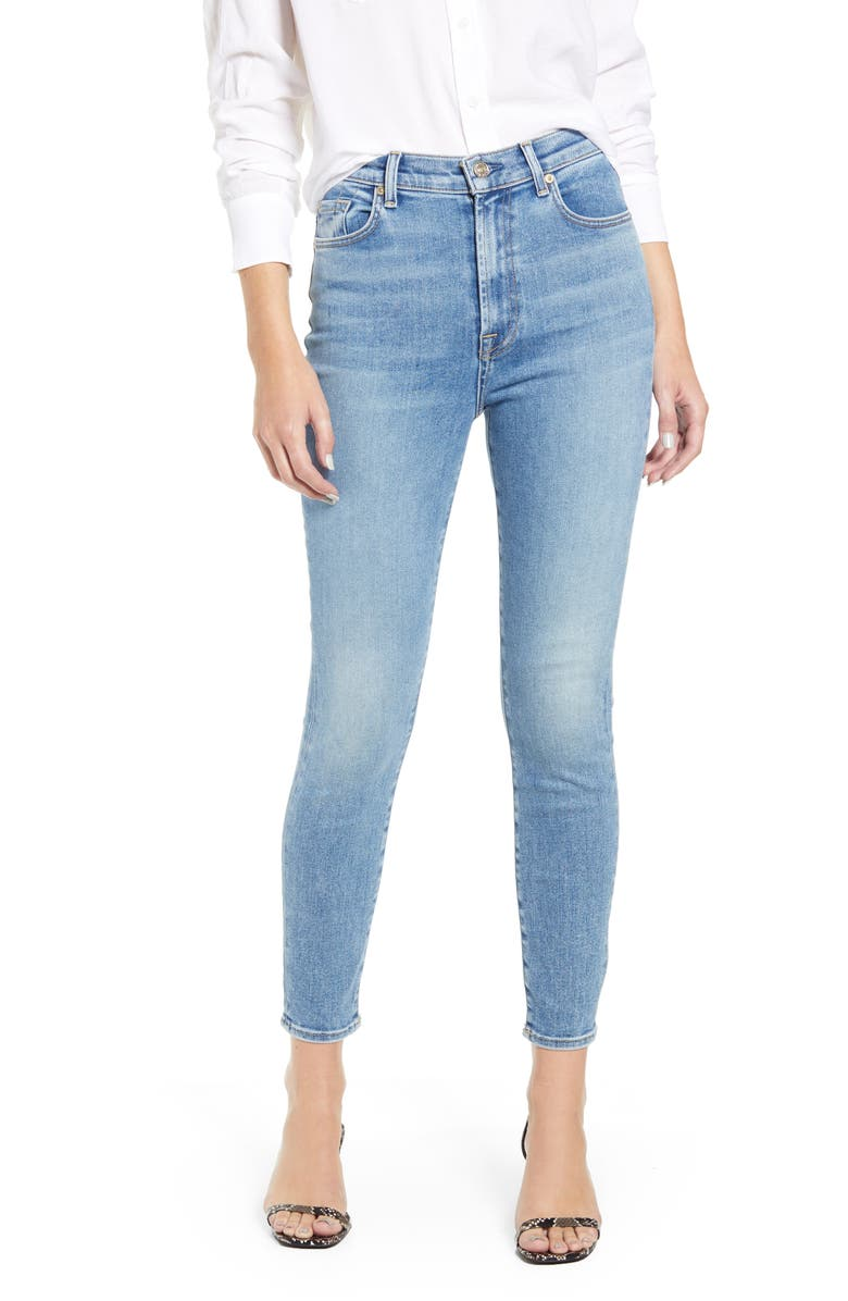 7 FOR ALL MANKIND<SUP>®</SUP> High Waist Ankle Skinny Jeans, Main, color, 400