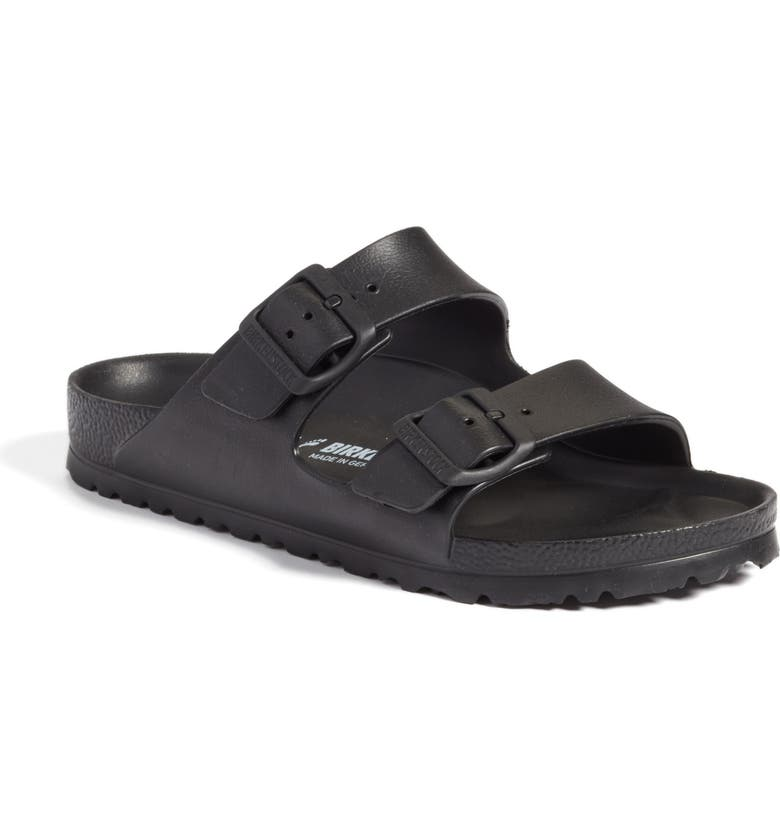 BIRKENSTOCK Essentials Arizona Waterproof Slide Sandal, Main, color, BLACK EVA