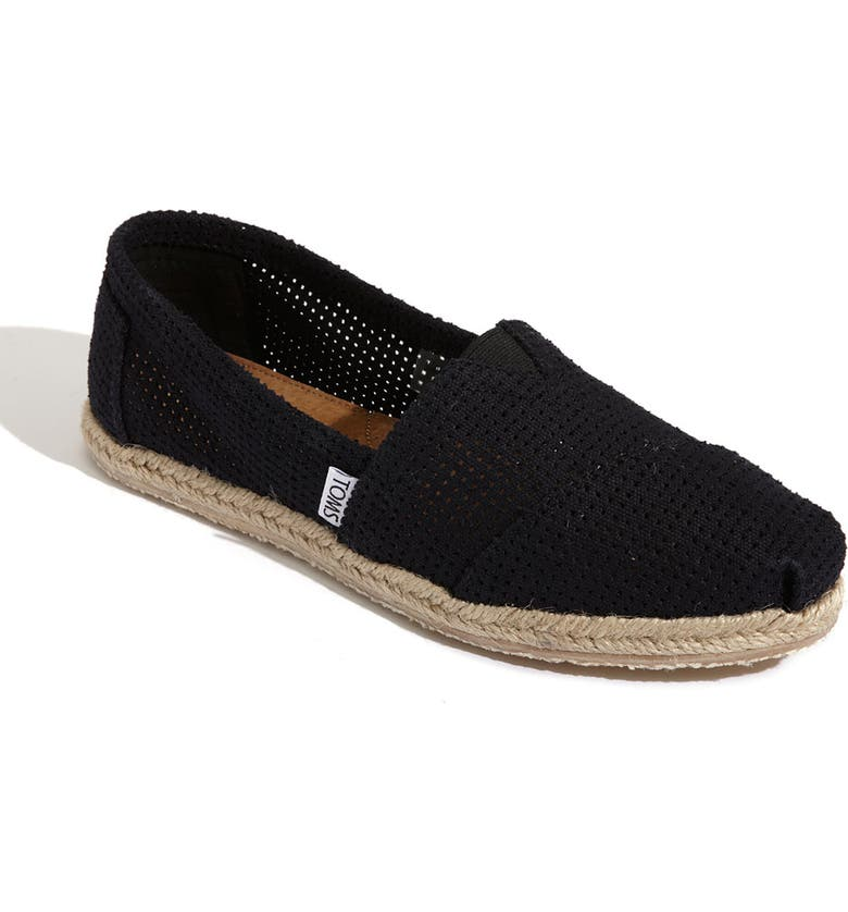 TOMS 'Freetown - Classic' Espadrille Slip-On, Main, color, 001