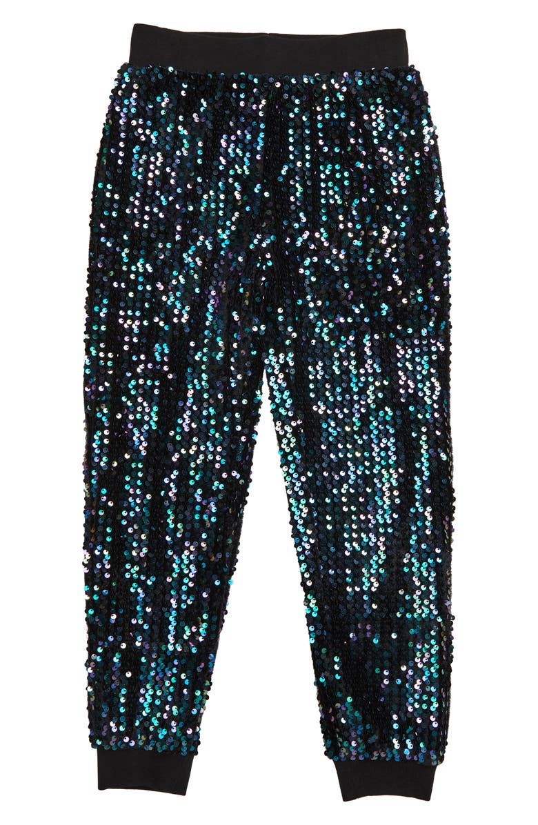 HABITUAL Gia Sequin Jogger Pants, Main, color, 001