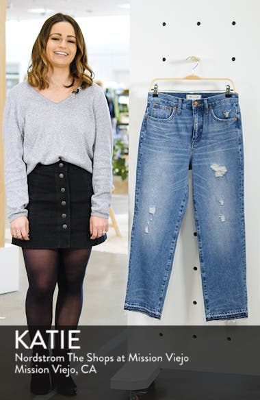 Classic Distressed Straight Leg Jeans, sales video thumbnail