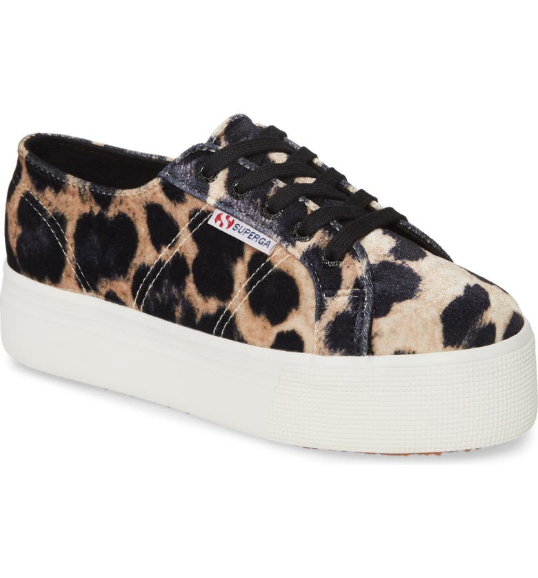 SUPERGA 2790 Fanvelvet Platform Sneaker, Main, color, 200