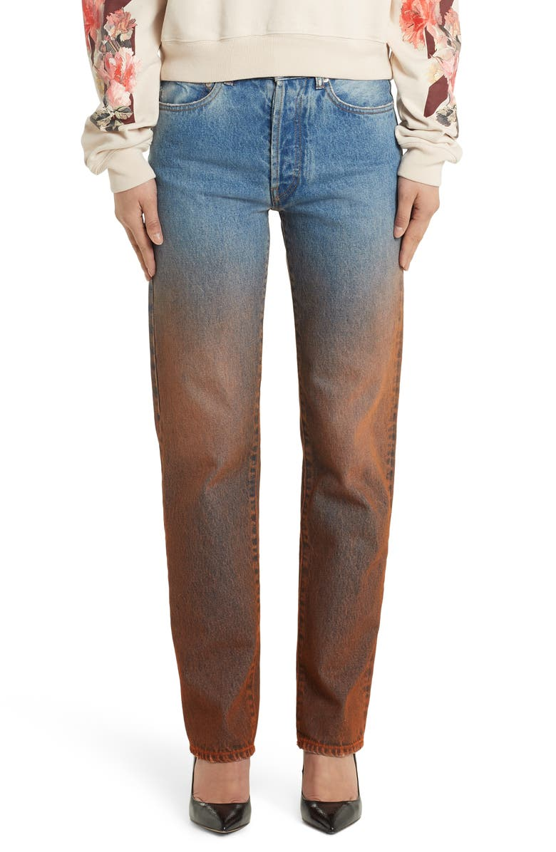 OFF-WHITE Degrade Baggy Straight Leg Jeans, Main, color, 400