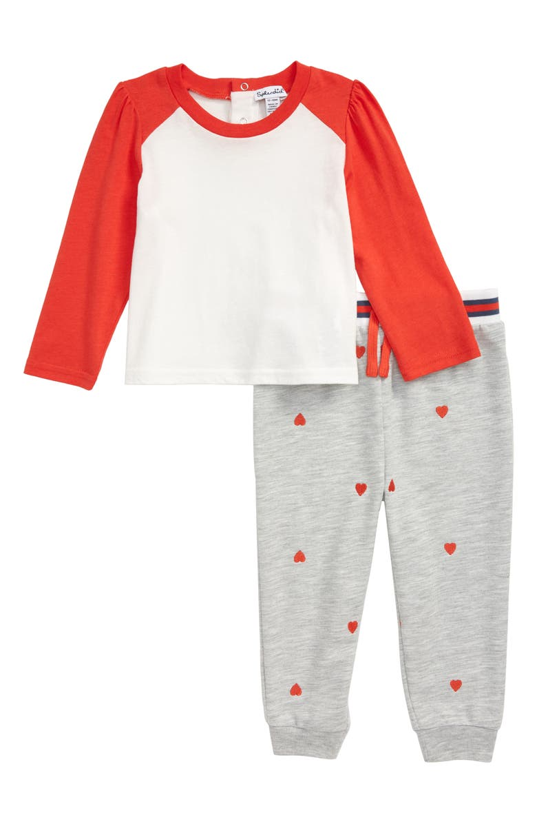 SPLENDID Long Sleeve Shirt & Heart Embroidered Jogger Pants Set, Main, color, 620