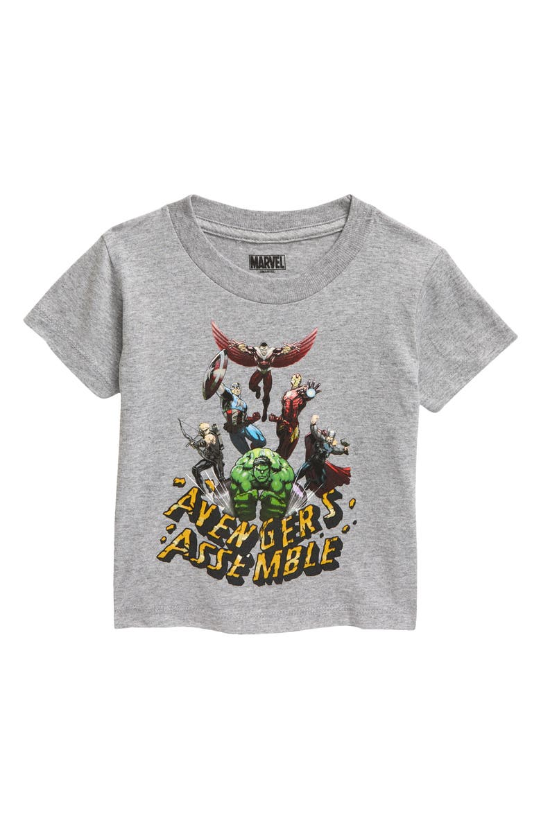 MIGHTY FINE Avengers Smash Graphic Tee, Main, color, HEATHER