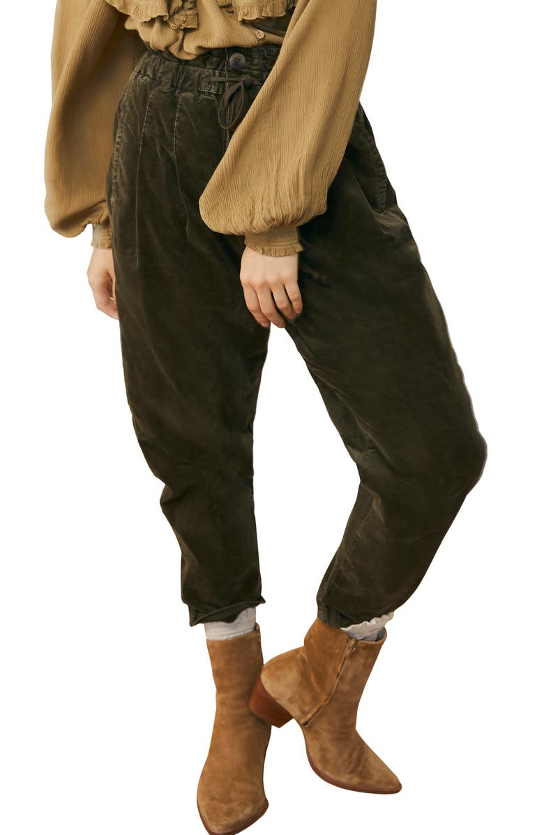 FREE PEOPLE Margate Corduroy Pants, Main, color, DRIED ROSEMARY