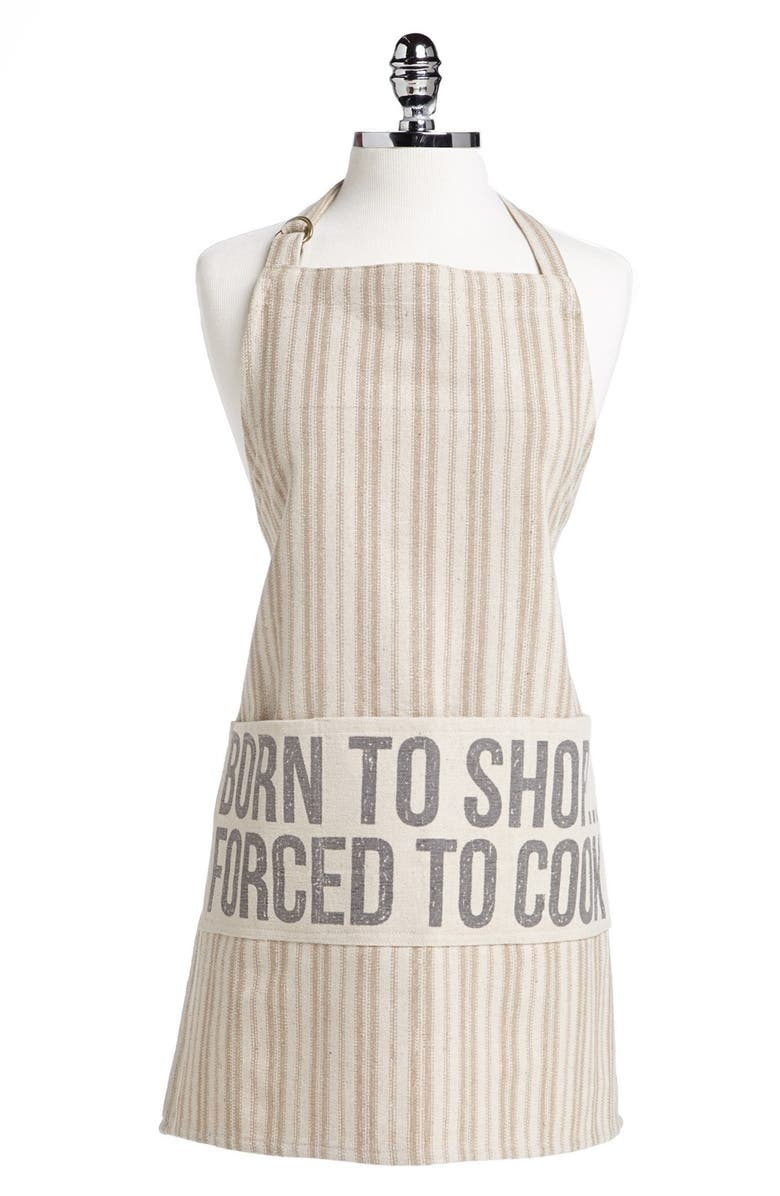 PRIMITIVES BY KATHY 'Born to Shop. Forced to Cook.' Apron, Main, color, 101