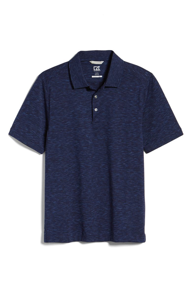 CUTTER & BUCK Advantage Space Dye Jersey Polo, Main, color, DARK LIBERTY NAVY