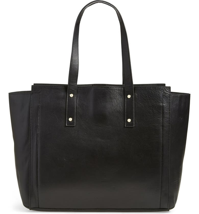 IVANKA TRUMP 'Soho' Quilted Leather Tech Charging Tote, Main, color, 001