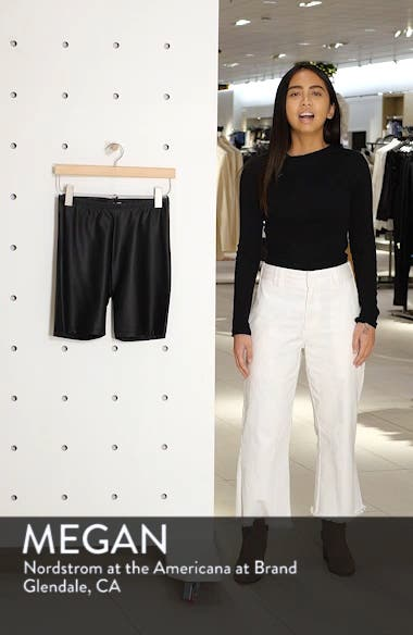 Faux Leather Cycling Shorts, sales video thumbnail