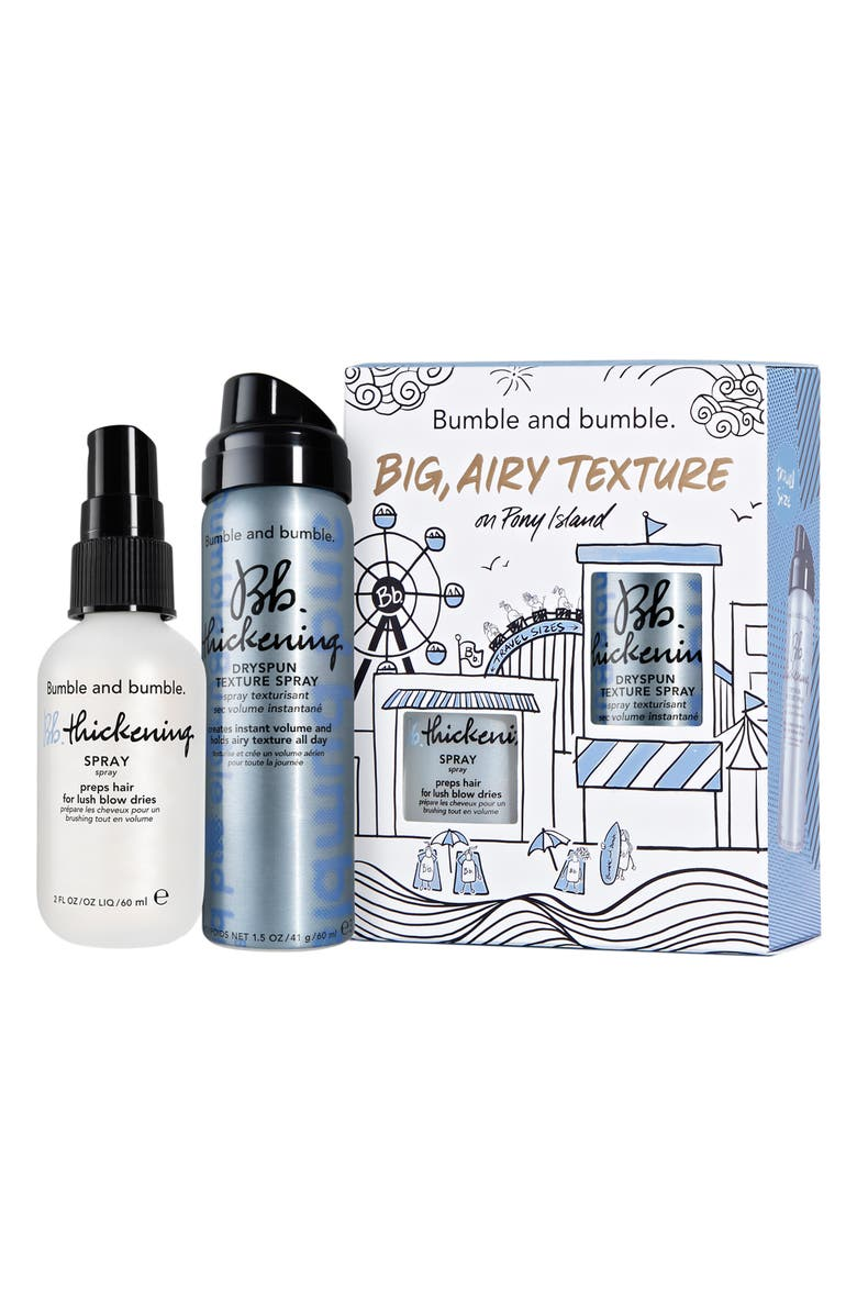 BUMBLE AND BUMBLE. Big, Airy Texture Travel Size Thickening Set, Main, color, NO COLOR