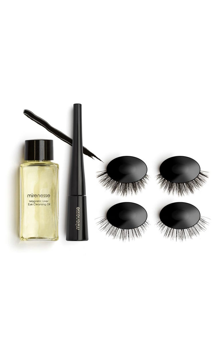 MIRENESSE Magnomatic Magnetic Eyeliner w/ Reuseable Magnetic Lashes Day & Night Kit - Volume Vivian, Main, color, NO COLOR