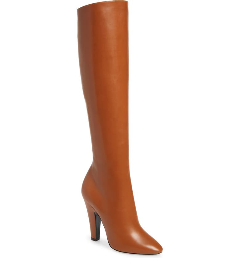 SAINT LAURENT Over the Knee Boot, Main, color, CUOIO