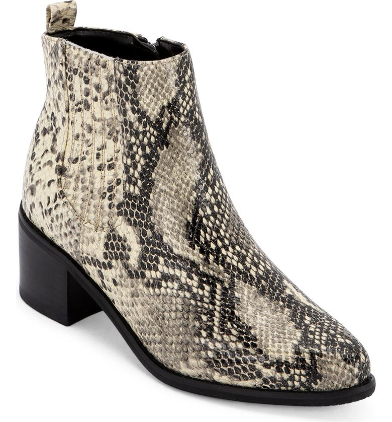 BLONDO Elvina Waterproof Bootie, Main, color, NATURAL SNAKE PRINT LEATHER