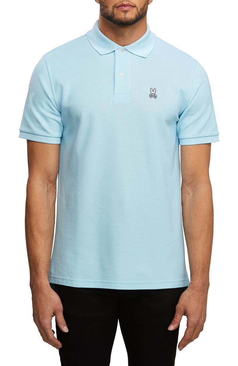 PSYCHO BUNNY The Classic Slim Fit Piqué Polo, Main, color, 400