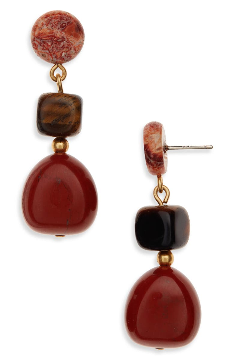 MADEWELL Stacked Stones Statement Earrings, Main, color, 001