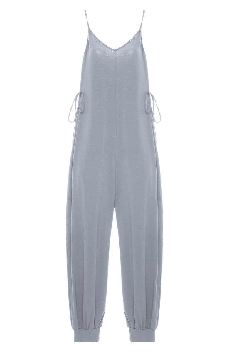 EBERJEY Finely Knotted Sleep Jumpsuit, Main, color, SOFT GREY