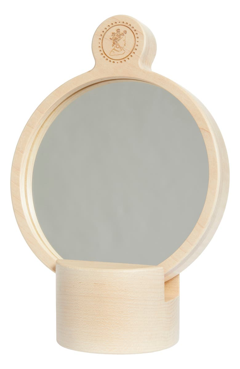 BEPHIES BEAUTY SUPPLY The Neverending Balloon Hand Mirror with Stand, Main, color, MAPLE WOOD