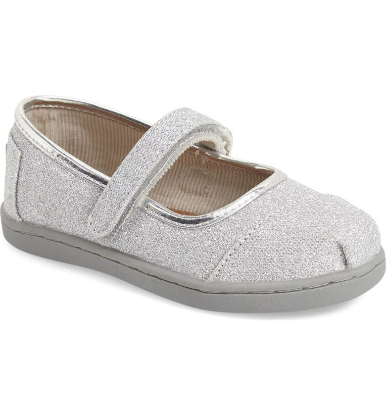 TOMS 'Tiny Glimmer' Mary Jane Flat, Main, color, 040